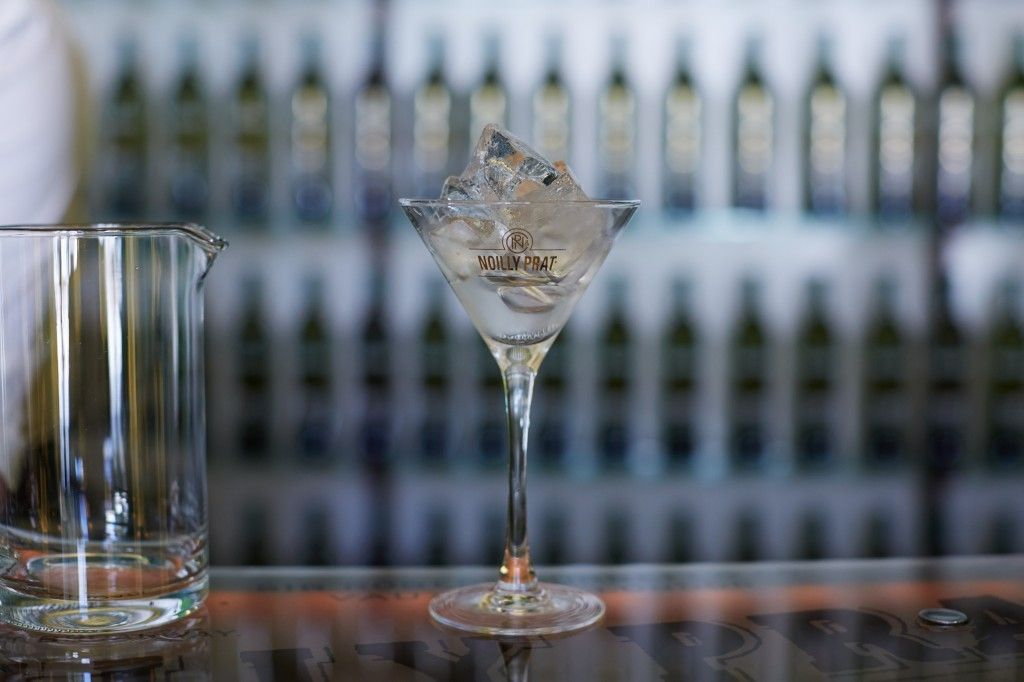 Fill A Glass With Ice. Perfect Dry Martini