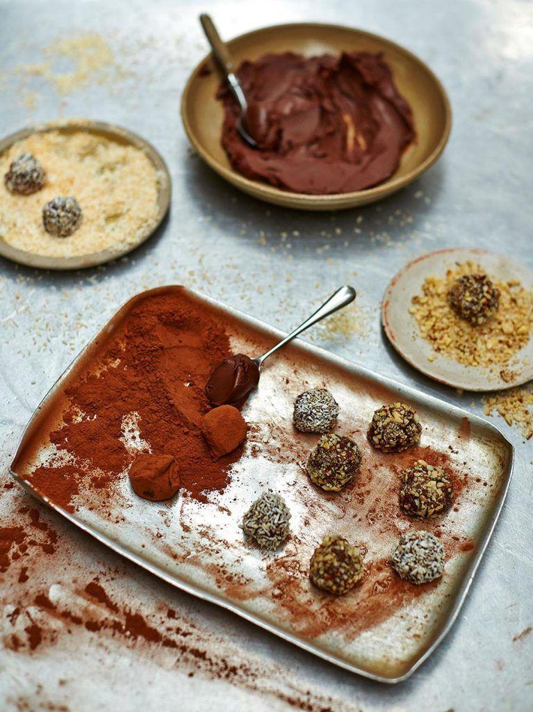 Dairy-free chocolate truffles