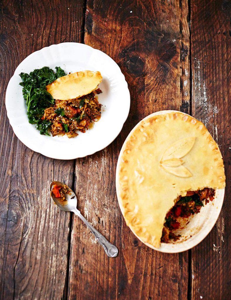 Gluten-free curried veggie pie