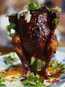 Sweet & spicy beer can chicken
