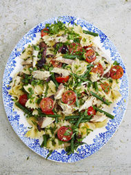 Mackerel pasta salad