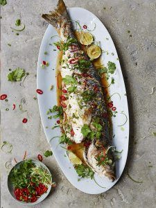 Asian steamed sea bass