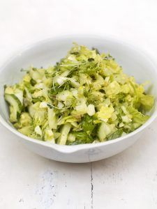 Everyday green choped salad
