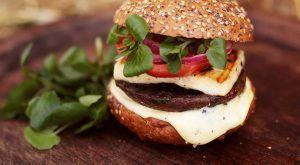 Halloumi & mushroom burger: Shane Russell & DJ BBQ