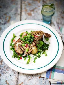Chargrilled pork escalopes