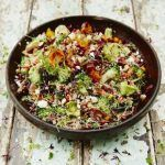 superfood salad with broccoli and vegetables in