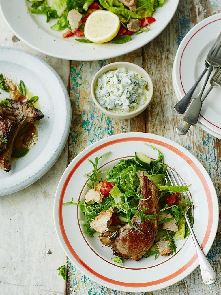 Grilled lamb chops with fattoush