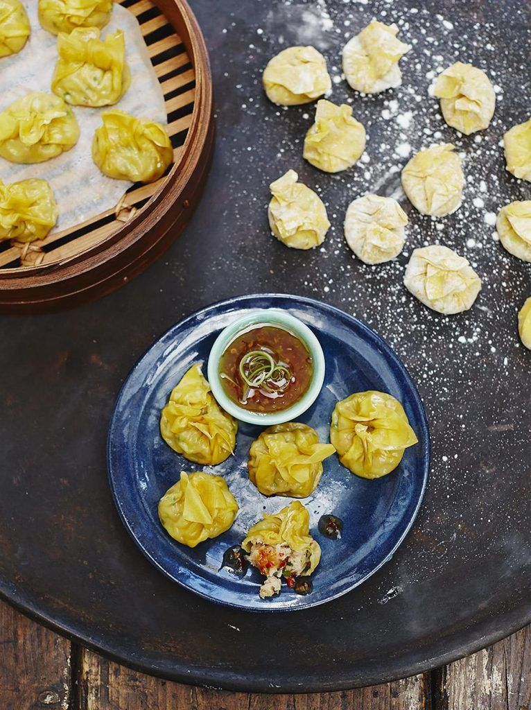 Prawn and crab wontons