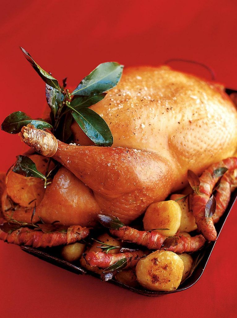 Roast turkey with spiced cranberry