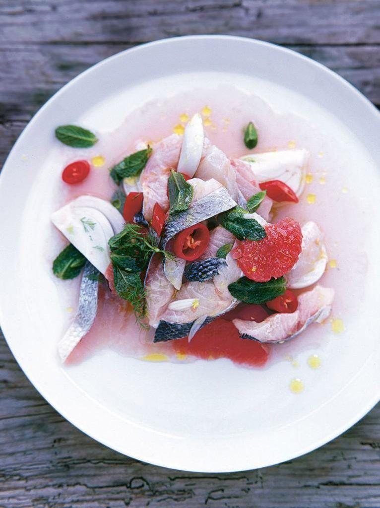 Sea bass, fennel & grapefruit ceviche
