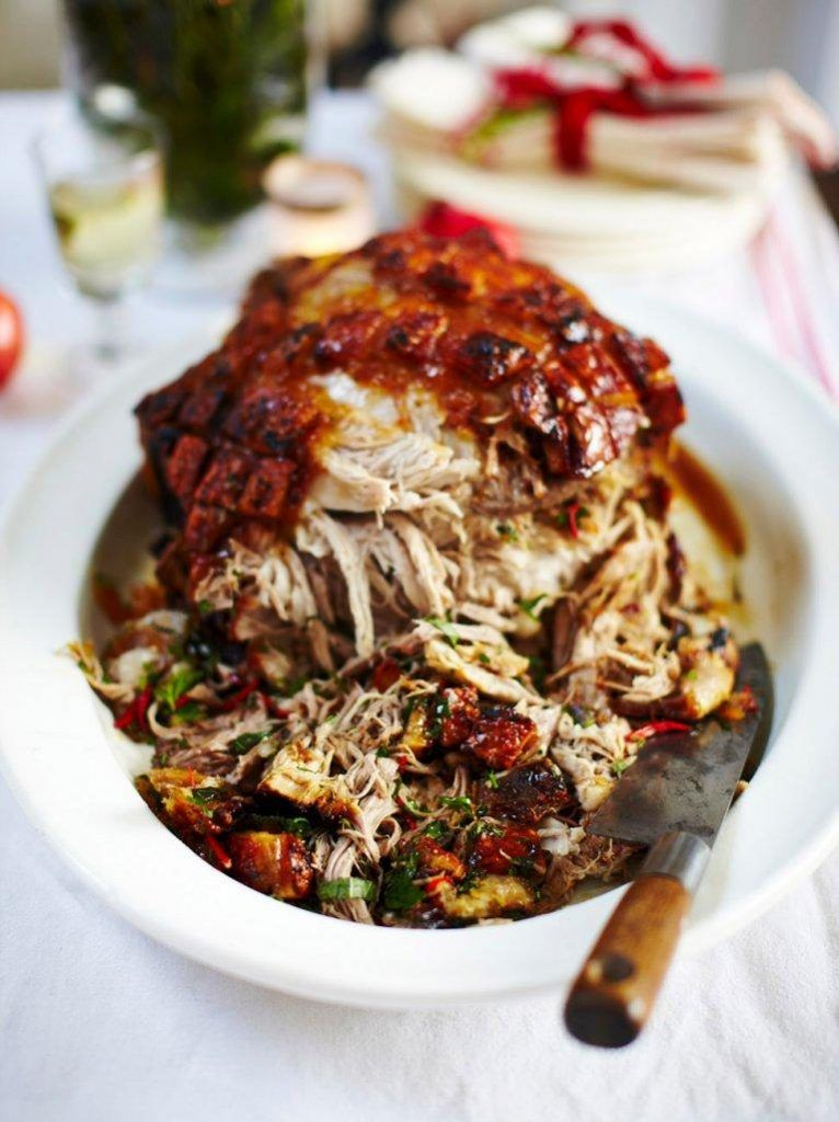 Slow-roasted marmalade pork