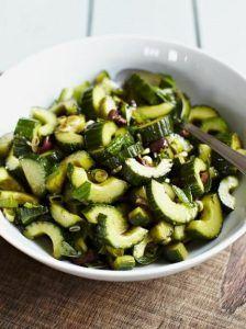Balsamic-dressed cucumber