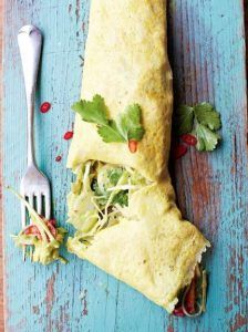 Mexican filled omelette