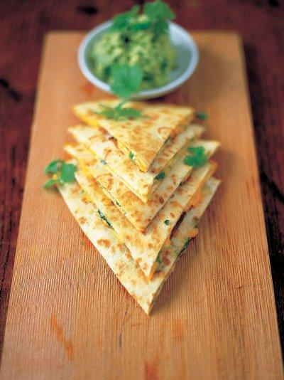 Quesadillas with guacamole