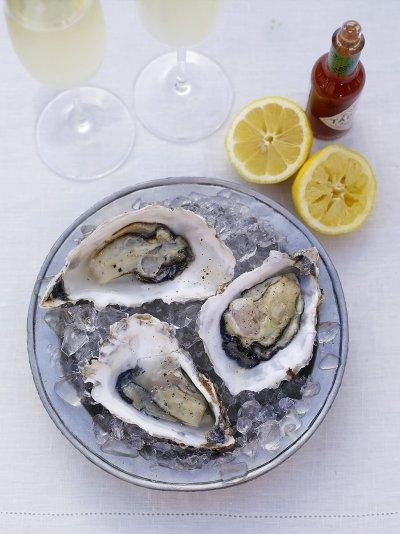 Fresh oysters served the old-fashioned way