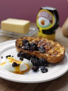 Black pudding, poached egg & soldiers