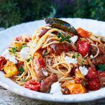 pasta recipes with tomatoes and sausage in tomatoes