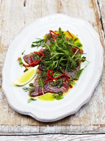 Sicilian-style tuna carpaccio