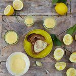 lemon curd recipe with slices of lemons beside