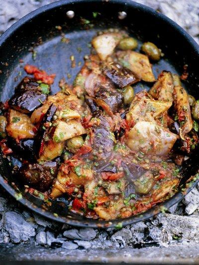 Incredible Sicilian aubergine stew (Caponata)