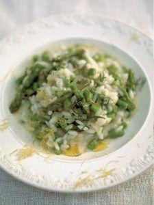 Asparagus, mint & lemon risotto