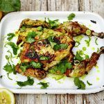 food - spiced turmeric barbecue chicken recipe