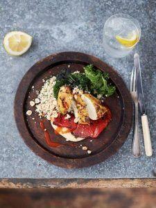 Seared turmeric chicken