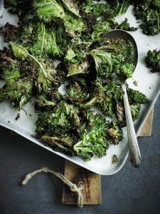 Sesame-roasted kale
