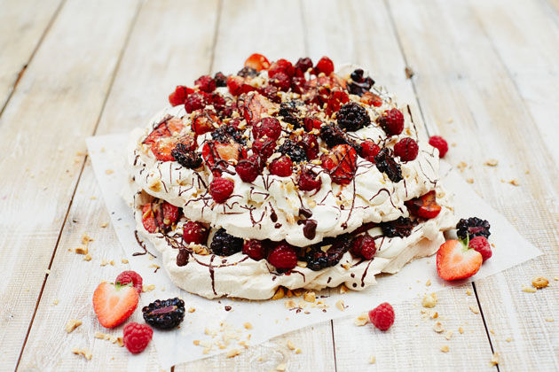 summer recipes - eton mess covered in berries