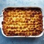 Saturday lunch recipes - family fish pie crispy mash top