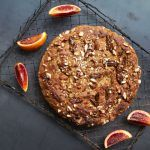 banana bread recipe feature - banana bread with walnuts surrounded by figs
