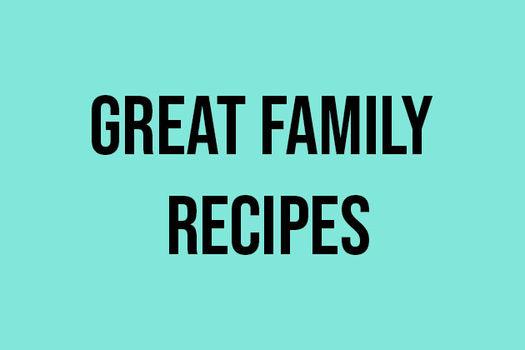 Great family recipes - quiz text