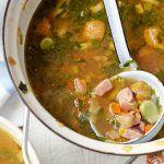 broad bean and ham soup recipe