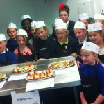 kids cooking for food revolution day