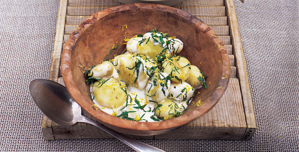potato salad barbecue side dish with herbs
