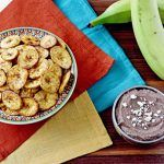 costa rica dish with plantain chips and dip