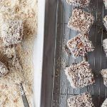 homemade lamingtons recipe covered in coconut