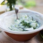 cucumber and sour cream salad