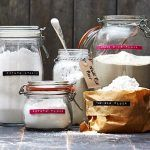 jars filled with gluten-free flour alternatives