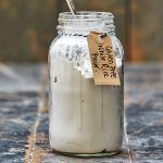 gluten free white rice flour in a jar