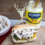 christmas leftovers - mayonnaise and turkey sandwich