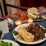 Burns supper recipes - haggis, cheese, mash, veg