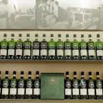 scotch whisky in rows of bottles