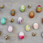 an array of eggs all painted differently