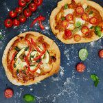 Healthy Eating Week - chopped tomatoes with mozarella, basil and veg