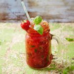 soft drinks ideas, a strawberry drink filled in glass