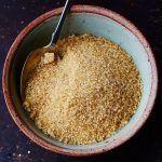 granules of brown sugar in a bowl