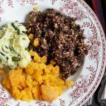 burns night mash with turnips and swede with haggis