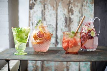 How to make pomegranate, ginger & lime flavoured water