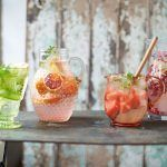 flavoured water for pomegranate, ginger & lime